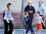 Kevin Federline takes his brood out for the day