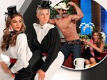 Engagement gift: Talk show host Ellen DeGeneres surprised bride-to-be Sofia Vergara with a lap dance on Tuesday's edition of her chat show