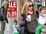 The Blair titch project! Selma tries to coax son Arthur into her arms as they go walkabout in Hollywood