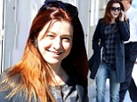 2551411 Wiping the slate clean? Alyson Hannigan goes solo as she visits tattoo removal store