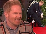 When photoboming goes wrong: Jesse Tyler Ferguson giggles through Ellen interview as he explains red carpet hijinks