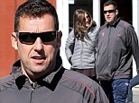 Just the two of us! Adam Sandler and wife Jackie enjoy a rare break from parenting as they hit the shops
