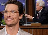 His latest transformation! Matthew McConaughey changes his look with smart reading glasses for Tonight Show appearance