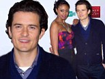 Posing with his Juliet! Orlando Bloom makes a handsome Romeo on the red carpet with his co-star Condola Rashad