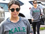 Talk about a fitness fanatic! Nikki Reed promotes healthy food by wearing kale pullover after visit to the gym