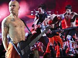 That's bound to Give It Away! Red Hot Chili Peppers didn't PLUG IN their instruments for Super Bowl halftime show performance