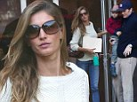Designer couple: Gisele Bundchen and Tom Brady get the creative juices flowing at LA design centre as work gets well underway on new mega-mansion build
