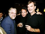 Long-time friends: Philip Seymour Hoffman and his buddy David Bar Katz seen here in 2008 at New York's Terminal 5 for a gala benefit for the musical, We Will Rock You