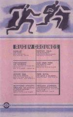 """Poster - """"Rugby Grounds"""", London Transport"""