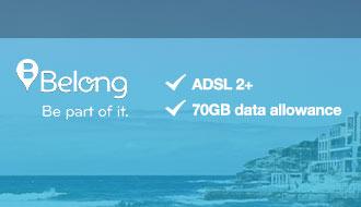 Broadband for Sydney from $50/mth