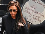 'Good luck, Mommy': Victoria Beckham shares intimate good luck note from David and the children ahead of NYFW catwalk show