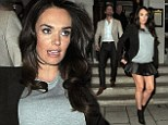 Come dine with me: Pregnant socialite Tamara Ecclestone showed off her slender legs as she headed out to dinner with husband Jay Rutland