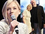 Emily Kinney is pretty in lace as she cuddles up to on-screen dad Scott Wilson... who is resurrected to help cast promote The Walking Dead ahead of season premiere
