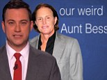 'Now you're our weird Aunt Bess!' Jimmy Kimmel pokes fun at Bruce Jenner's changing appearance in new video