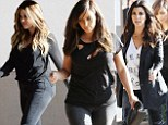 Who is the sexiest sister? Kourtney, left, Kim, middle, and Khloe, right, all stepped out in provocative pieces as they stopped by Maria's Italian Kitchen in Tarzana, California on Friday