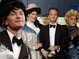 'I felt remarkably good in heels!' Neil Patrick Harris dons a wig and bra with two 'drag queens' to accept Hasty Pudding Award