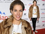 Fresh from the runway! Jessica Hart goes foundation-free and dressed down to model party after hitting the catwalk at New York Fashion Week
