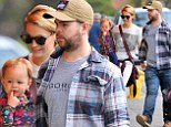 Their little flower! Jack Osbourne and Lisa Stelly dress Pearl in sweet floral frock before arriving at breakfast hand-in-hand
