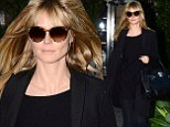 Washing that man night out of your hair? Heidi Klum enjoys some me time at the salon post break up