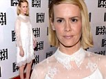 Lighting the night: Sarah Paulson wore a white vintage-looking dress to the 64th Annual ACE Eddie Awards at he Beverly Hilton Hotel in Beverly Hills, California on Friday