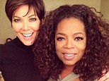 TV personalities: Kris Jenner, whose show was recently cancelled, posed for a photo with talk show queen Oprah Winfrey in a snap she shared Friday on Instagram and Twitter
