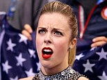 Shock: Wagner reacts to her score after competing in the Figure Skating Team Ladies Short Program during day one of the Sochi 2014 Winter Olympics at Iceberg Skating Palace on February 8