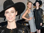 'Girls time!' Coco Rocha and Petra Nemcova cuddle up for happy snaps at Herve Leger NYFW show