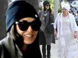 Friends in high places! Demi Moore shares a giggle with spiritual guru Tej Khalsa following yoga class