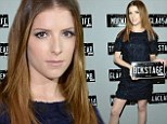 Runway ready! Anna Kendrick shows off fabulous legs in blue mini-dress at New York Fashion Week