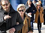 Michelle Williams supported by close friend Jake Gyllenhaal at Philip Seymour Hoffman's funeral... six years after tragic overdose of former partner Heath Ledger