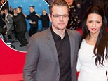 Hollywood hotties: Matt Damon and his wife Luciana Barroso looked amazing as they attended the premiere of his new movie, Monuments Men, at the Berlin Film Festival, shortly after George Clooney had led the cast in a conga at the photocall