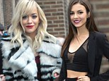 Both Rita Ora (l) and Victoria Justice (r) were at the DKNY show