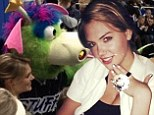 She got Stuffed! Kate Upton publicly thanks Orlando Magics mascot after shock proposal at basketball game