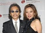 Better times: Rocky Aoki and wife Keiko Ono Aoki pose while attending a 2008 charity benefit