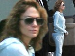 See, I am still Jenny from the block! A dressed down Jennifer Lopez arrives on set makeup and hair extension free