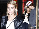 Emma Roberts enjoys a date night with her fiancé
