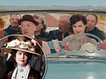 Downton's Elizabeth McGovern drives vintage car in new music video with her band Sadie and the Hotheads