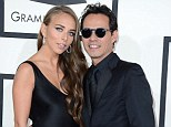 Tough times: Chloe Green and Marc Anthony were last pictured together at the Grammys on January 26 where they looked like a cute couple