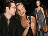 Petra Nemcova shows off her slender figure in flimsy dress as she cosies up to Colin Farrell in front row of Bono's fashion show
