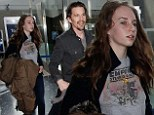 Ethan Hawke and daughter Maya at Los Angeles International Airport