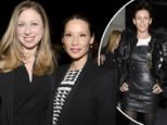 Lucy Liu and Chelsea Clinton play it safe with business chic while Liberty Ross goes daring in leather mini dress at Edun show at New York Fashion Week