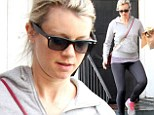 She's no diva! Amy Smart shows off her natural beauty as she heads to the Farmers Market makeup free in tight gym pants