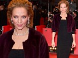 Timeless beauty! Uma Thurman is a classic knockout in a tight black gown during the Nymphomaniac premiere