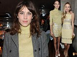 Alexa Chung at fashion show