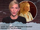 Cate Blanchett reads hilarious tweet on Jimmy Kimmel Live between Woody Allen scandal and Philip Seymour Hoffman's funeral