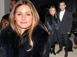 Olivia Palermo and her fiancé Johannes Huebl attend the Porsche Design show