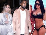 'It's ridiculous': Kanye West denies stepping out on Kim Kardashian in January with model who resembles his fiancée