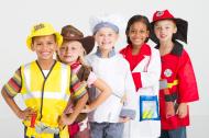 kids in work wear