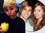 Bottoms up! Miley Cyrus shares snap of herself enjoying cocktail amid new claims she once hit on half-sister's boyfriend