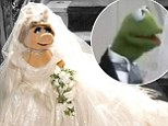 Dream wedding: Miss Piggy wears a wedding dress designed by Vivienne Westwood for the new Disney film Muppets Most Wanted